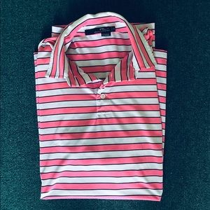 Men's Calvin Klein, Pink and White Striped Top